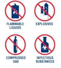 Barang yang dilarang Keamanan di Bandara