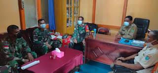 Zidam Komsos Bersama Aparat Desa Lembang