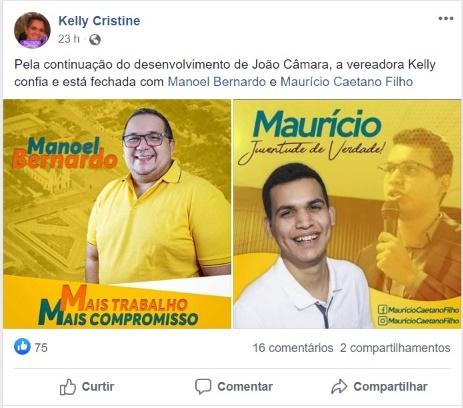 """Vereadora Kelly Cristine esta fechada com Manel e Maurício Filho"""" E Aninha de Berré ta fora? 🤔"""