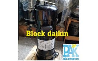daikin1 cung cấp phân phối (lốc) máy nén lạnh Daikin (3 ngựa 5 ngựa) JT95  JT125   JT160 lắp đặt