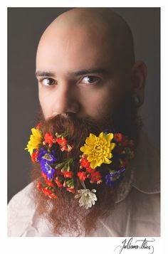 flower beard trend