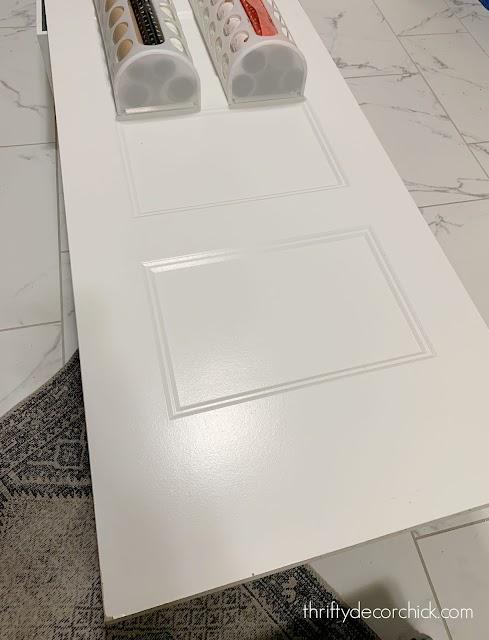 White paneled solid core door