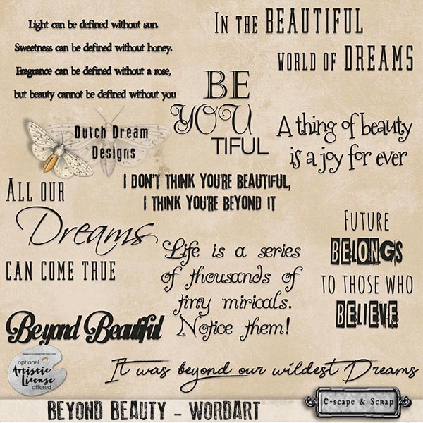Beyond Beauty Wordart