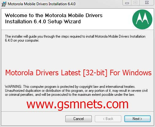 Motorola Drivers Latest [32-bit] For Windows