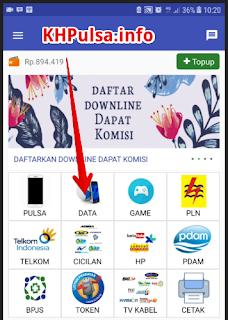 Pilih menu DATA