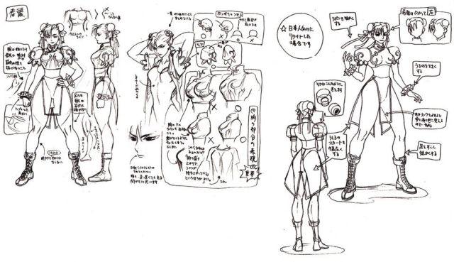 Some of Chun-Li's original designs
