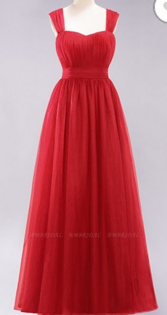 Long Sweetheart Straps Bridesmaid Dress– Price: US$ 99.00