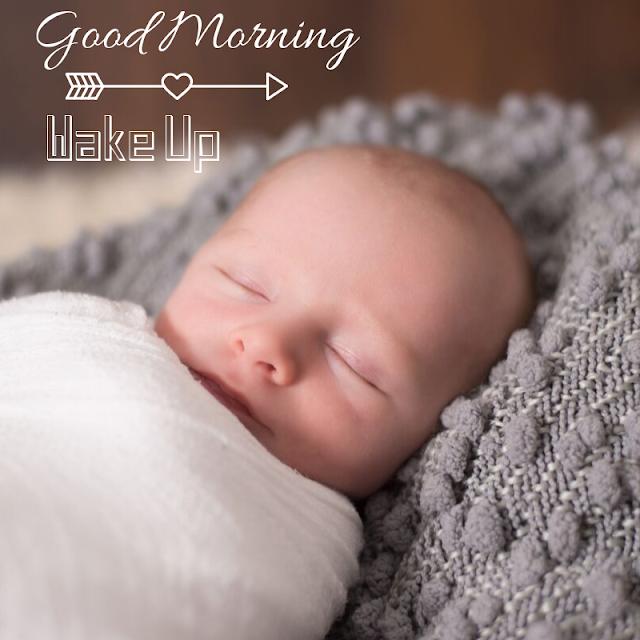 Beautiful sleeping Baby Good Morning Images