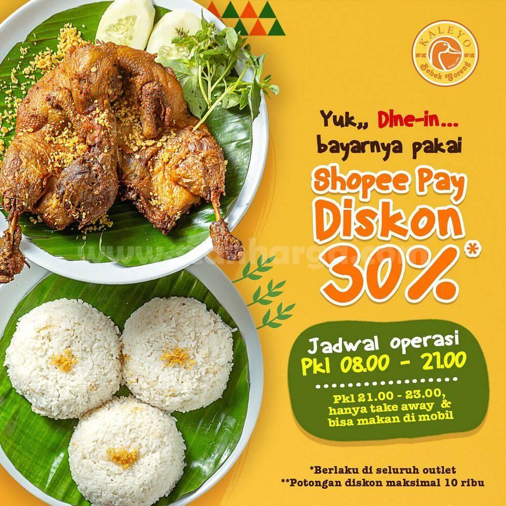 Promo BEBEK KALEYO Diskon 30% Bayar Pakai Shopeepay
