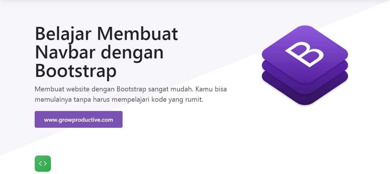 Belajar Membuat Navbar dengan Bootstrap