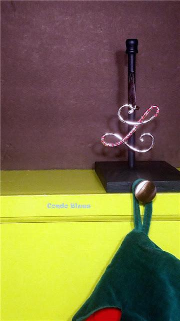 diy Christmas stocking mantel hanger