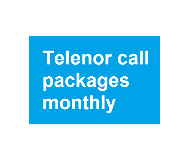 Telenor call packages monthly