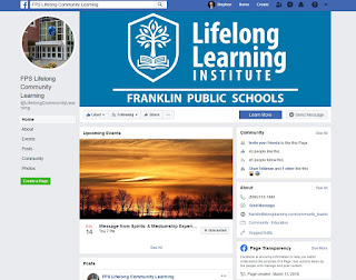 Lifelong Community Learning is now on Facebook