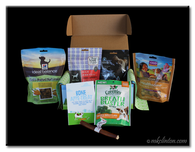 Five assorted bags of treats from Chewy.com