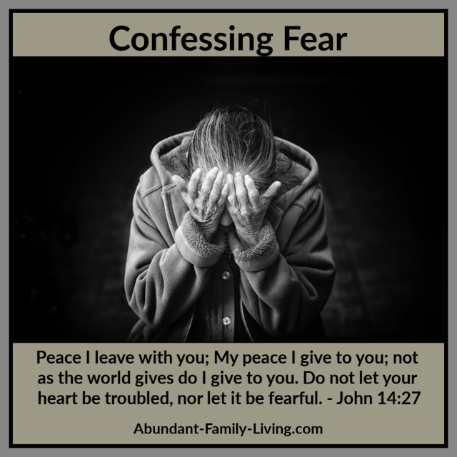 Confessing Fear Facebook and Instagram Post