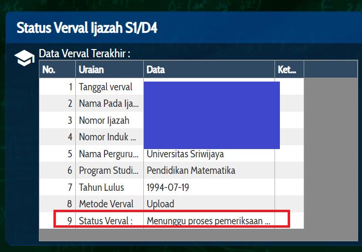 gambar status verval ijazah info gtk