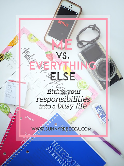 Me vs. Everything Else: Fitting Your Responsibilities into a Busy Life