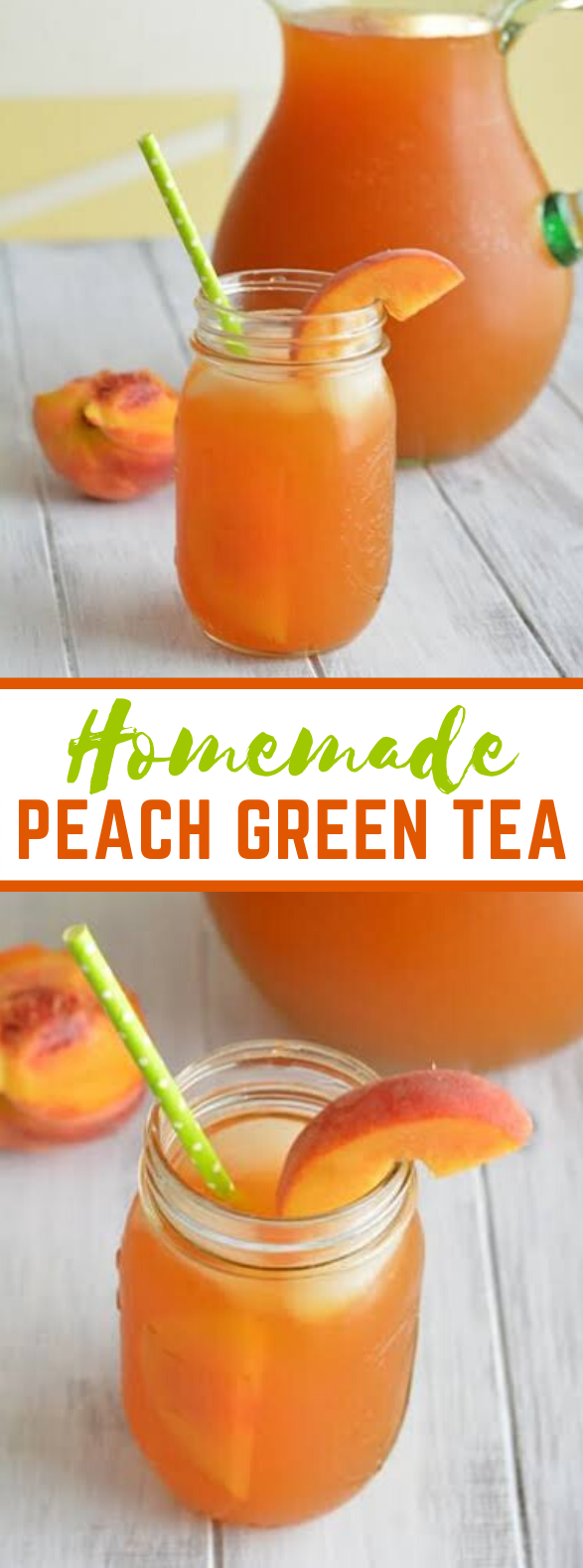 HOMEMADE PEACH GREEN TEA #summer #drink