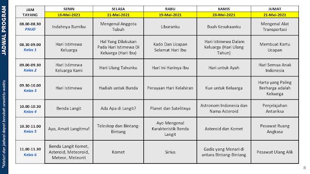 jadwal program belajar dari rumah bdr tvri 10 11 19 20 21 mei 2021 tomatalikuang.com