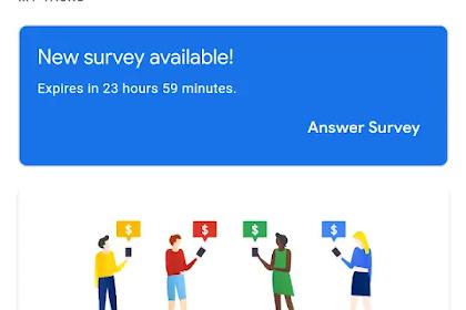 Kenapa Google Opinion Rewards Indonesia tidak Mendapat Survey