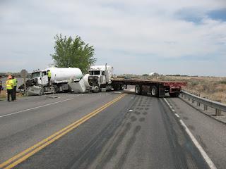 ** FINAL UPDATE: Crash with Lane Blockage on Sh-50 on the Hanson Bridge east of Kimberly