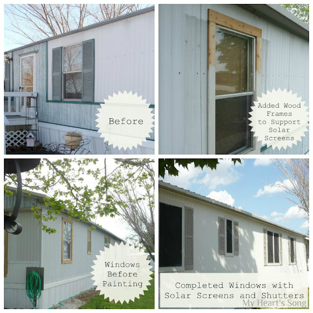 Buzz Built A Frame Around Each Window As Seen Below And Assembled The Solar Screens Using Kits Supplies From Our Big Box