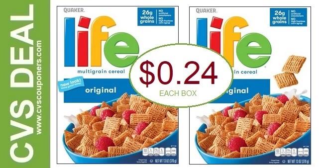 Quaker Life Cereal CVS Deals