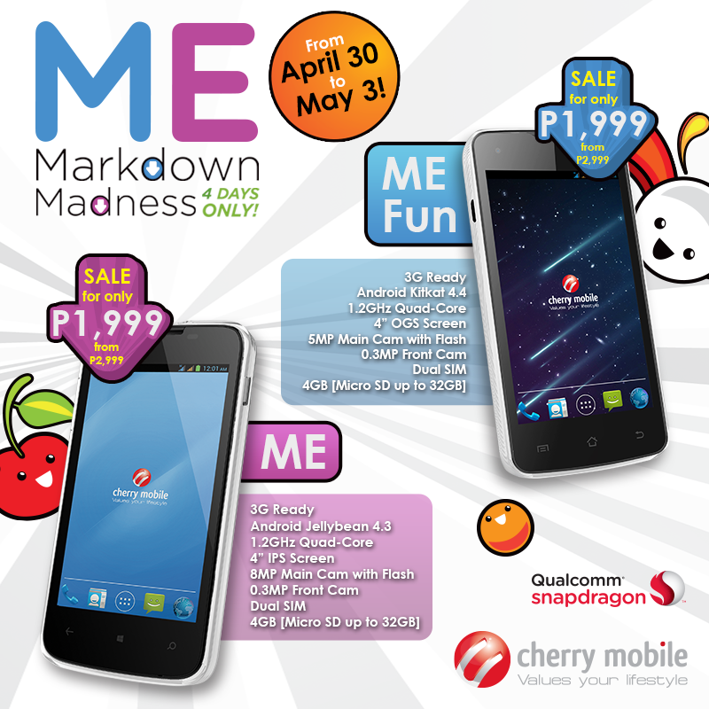 Cherry Mobile Me and Me Fun to retail at Php 1,999