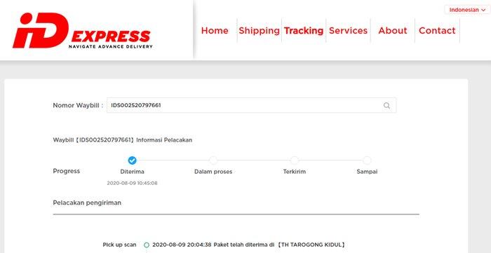 cek resi ID Express - idexpress.com