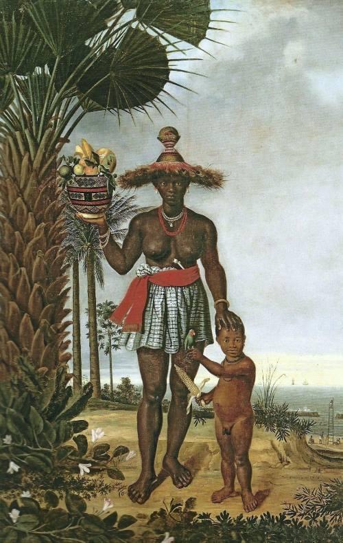 Mulher Negra, pintura de Albert Eckhout.