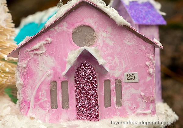 Layers of ink - Winter Village Tutorial by Anna-Karin Evaldsson.