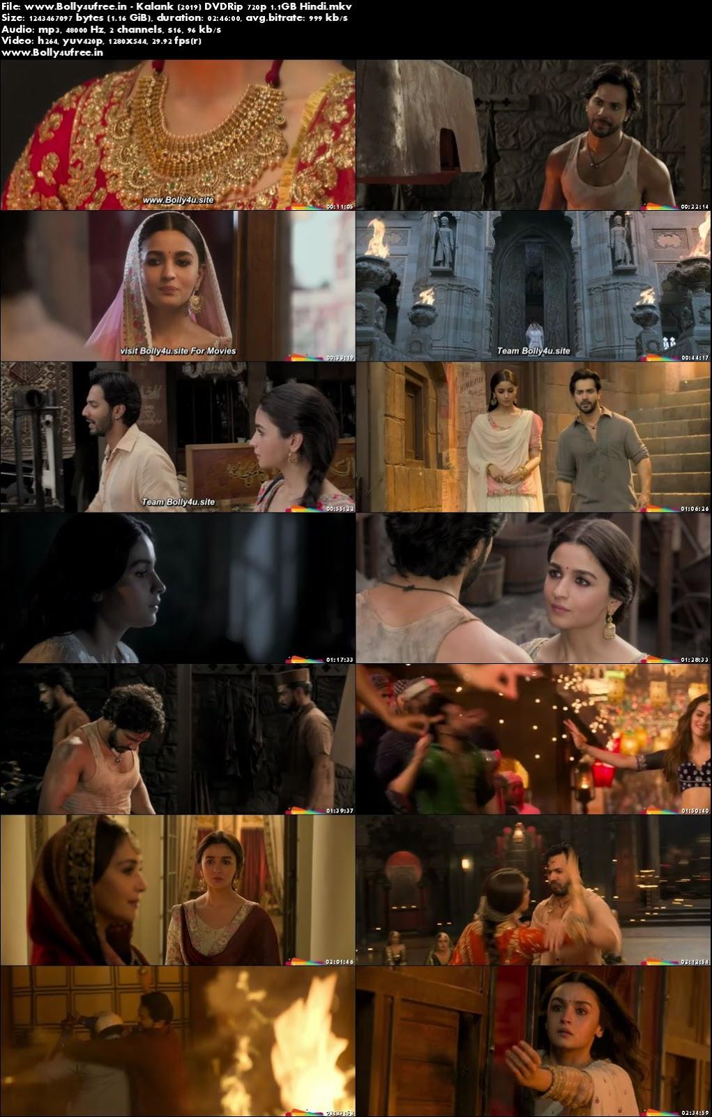 Kalank 2019 Hindi Full Movie Download DVDRip 450MB 480p