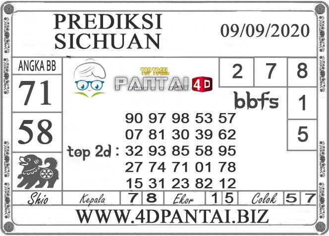 PREDIKSI TOGEL SICHUAN PANTAI4D 09 SEPTEMBER 2020