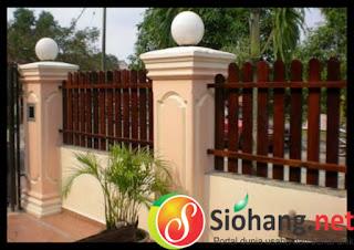 pagar rumah cantik modern