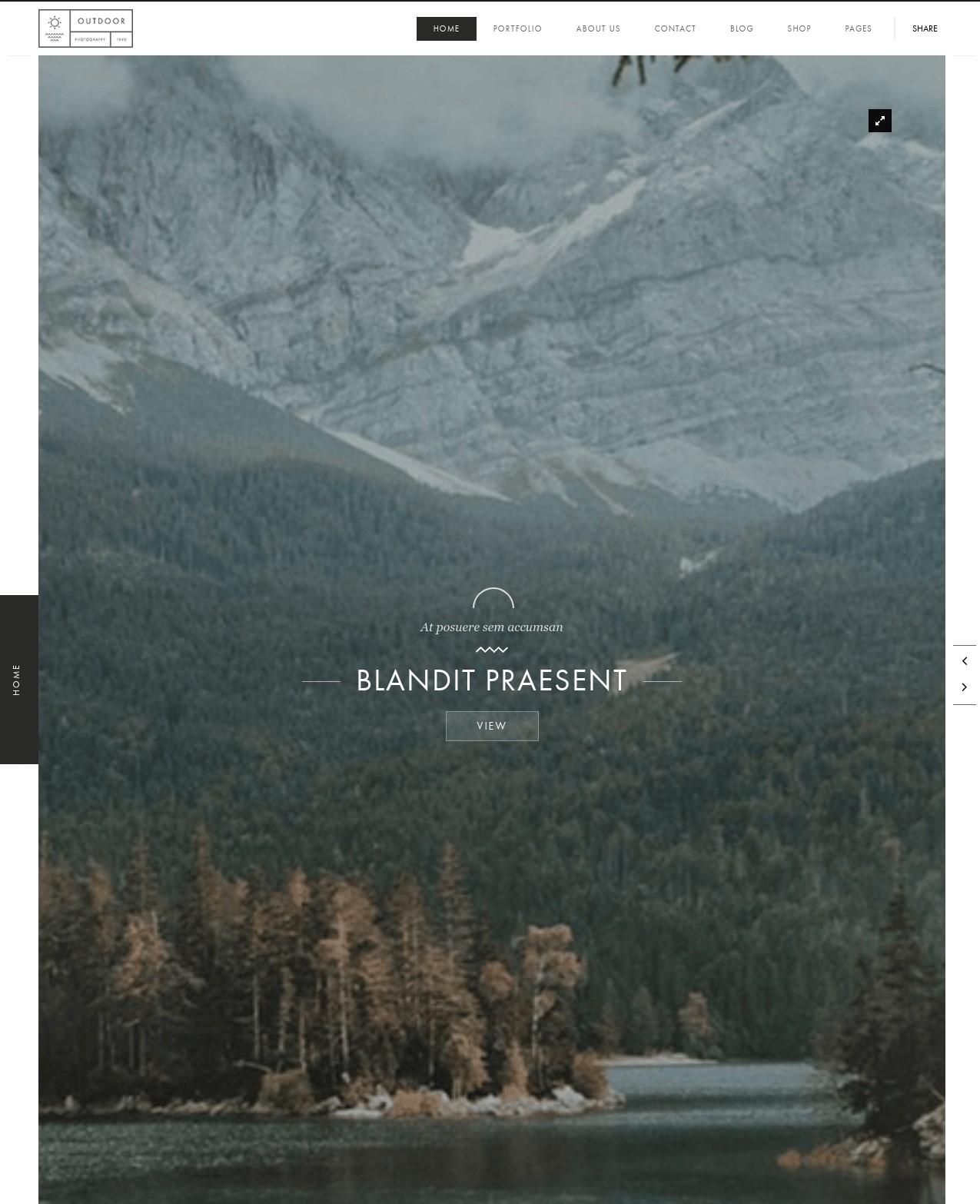 Outdoor  Creative Photography  Portfolio WordPress Theme