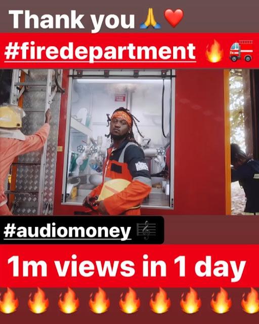 "Rudeboy ""Audio Money"" Video Hits 1 Million Youtube Views In 24 Hours"