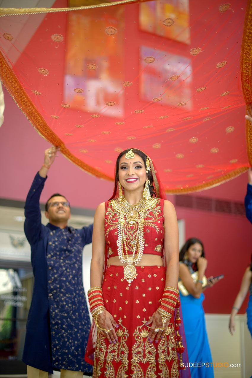 Indian Wedding Photography Bridal Entrance at Eagle Crest Marriott SudeepStudio.com Ann Arbor South Asian Indian Wedding Photographer