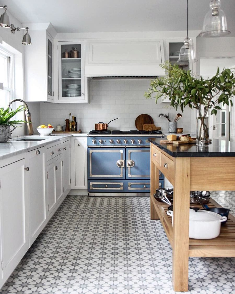 5 Beautiful Kitchen Floor Ideas With White Cabinets Pictures