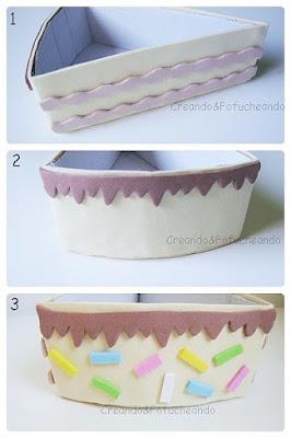 caja-decorada-porción-de-tarta-con-cartón-y-goma-eva