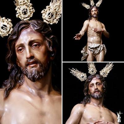 Presentado el Cristo Resucitado en Guadalcanal (Sevilla), obra de Fernando Aguado