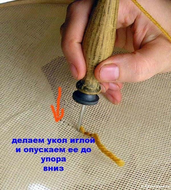Вышивка в ковровой технике.  Embroidery in the carpet art.