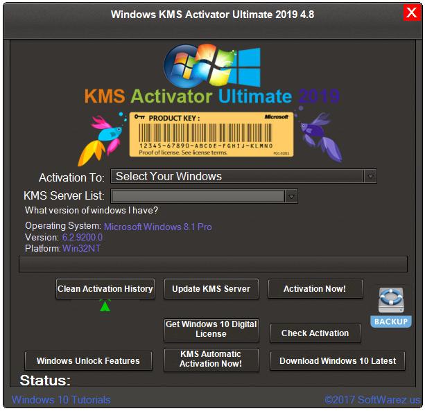 Screenshot Windows KMS Activator Ultimate 2019 v4.8