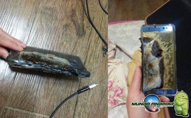 Explosión de la batería del Galaxy Note 7