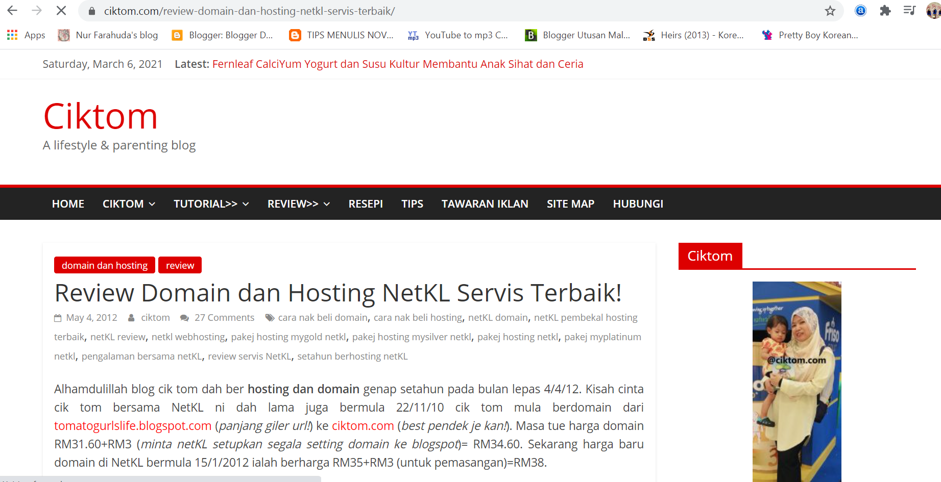 Tips Pemilihan Domain Blog