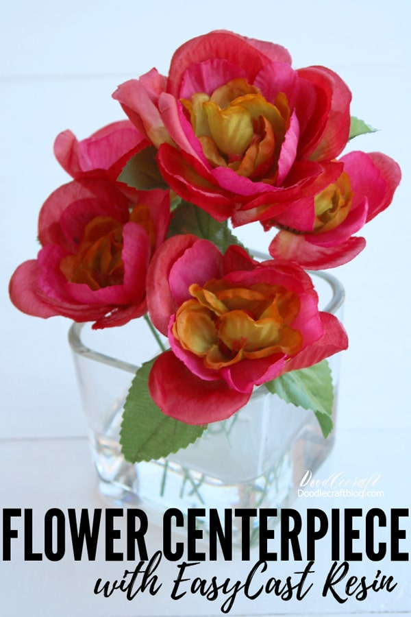 Make a flower vase centerpiece that looks great year round and doesn't need any maintenance using EasyCast resin.