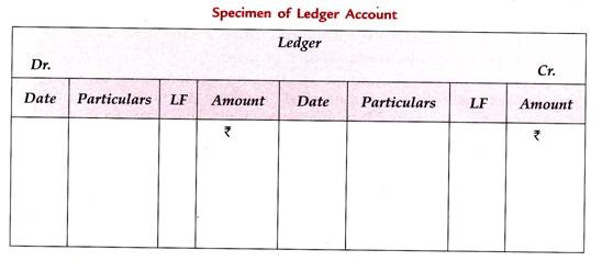 standard form of ledger account