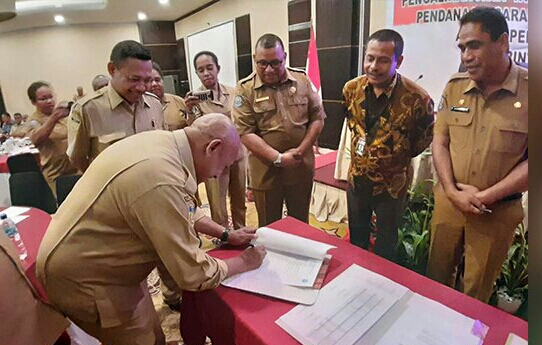 Di Papua KPK Fasilitasi Rekonsiliasi Aset Rp 1,3 Triliun.