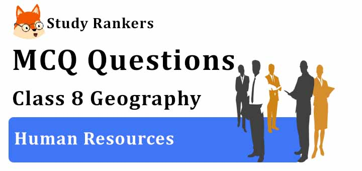 MCQ Questions for Class 8 Geography: Ch 6 Human Resources