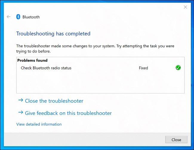 windows troubelshooter bluetooth