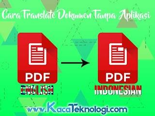 Cara Menerjemahkan Dokumen PDF di Google Translate Tanpa Aplikasi di PC dan Android